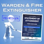 Warden & fire extinguisher refresher- SOA