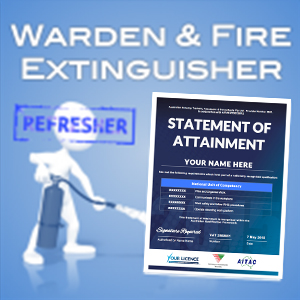 Warden & fire extinguisher refresher- SOA