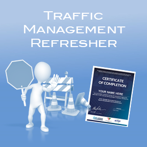 control traffic with a stop-slow bat and traffic management online refresher course icon